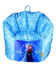 Orka Disney Frozen Anna & Elsa Digital Printed Bean Bag Blue - Small