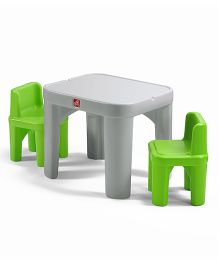 Step2 Mighty My Size Table And Chairs Set - Grey And Green