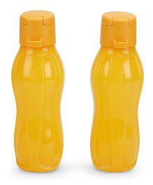 Tupperware Aquasafe Plastic Flip Top Bottle Set Yellow - 310 ML