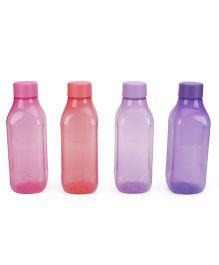 Tupperware Bottles Pack Of 4 - Red Pink Purple