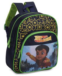 Chhota Bheem School Bag Green And Blue - 12 Inches