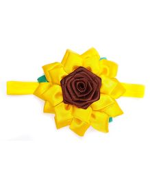 Reyas Accessories Sunflower Headband - Yellow & Brown