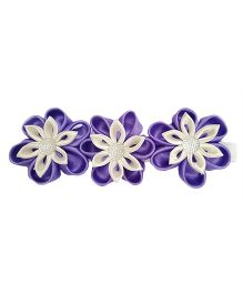 Reyas Accessories Kanzashi Headband - Purple & White