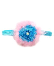 Reyas Accessories Feathery Headband - Pink & Blue