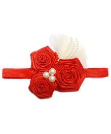 Reyas Accessories Roses Trio Headband - Red