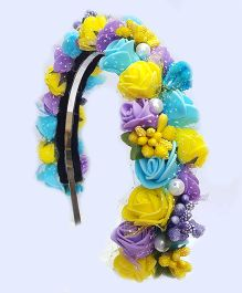 Reyas Accessories Party Wear Rose Hairband - Multicolor