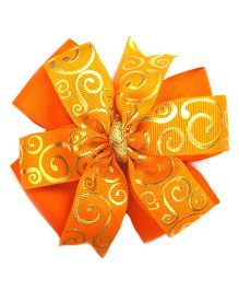 Reyas Accessories Swirl Pinwheel Hair Clip - Orange