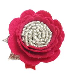 Reyas Accessories Flower Hair Clip - Pink & Silver