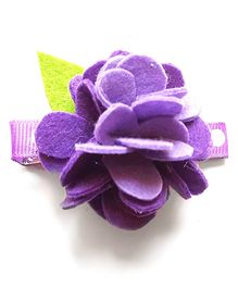 Reyas Accessories Pretty Floral Hair Clip - Purple