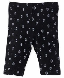 Fox Baby Leggings Printed - Black