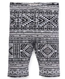 Fox Baby Leggings Printed - Off White Black