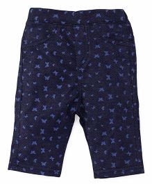 Fox Baby Jeggings Butterfly Print - Navy Blue