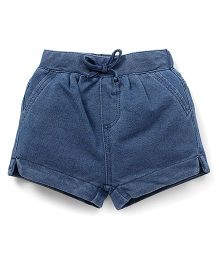 Fox Baby Shorts With Drawstrings - Blue