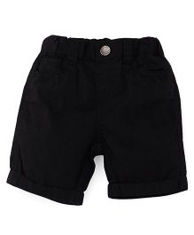 Fox Baby Plain Solid Color Shorts - Black