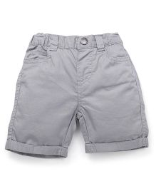Fox Baby Shorts With Elasticated Waist - Grey