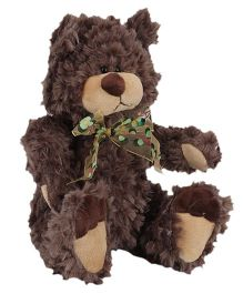 Play N Pets Teddy Bear With Ribbon Bow - Brown