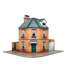 The CityBuilder Corner Row House Kit - Multicolor