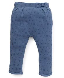 Fox Baby Jeggings Butterfly Print - Denim Blue