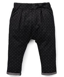 Fox Baby Leggings Polka Dot Print - Black