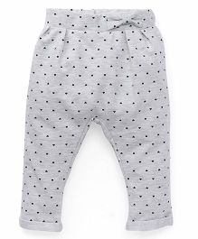 Fox Baby Leggings Dots Print - Grey