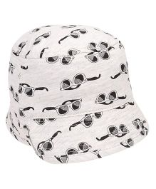 Fox Baby Bucket Hat Sunglasses Print - White