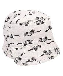 Fox Baby Bucket Hat Sunglasses Print - White
