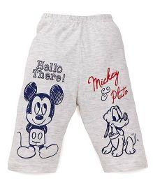 Bodycare Three Fourth Pajama Mickey & Pluto Print - Light Grey