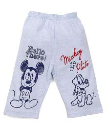 Bodycare Three Fourth Pajama Mickey & Pluto Print - Blue