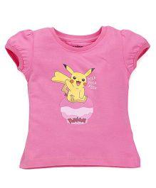 Bodycare Short Sleeves Tee Pikachu Print - Pink