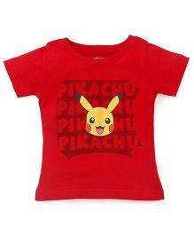 Bodycare Half Sleeves Tee Pokemon Print - Red