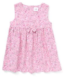 ToffyHouse Sleeveless Frock Floral Print - Light Pink