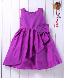 Pspeaches Big Bow Taffeta Dress - Purple