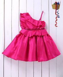 Pspeaches Elegant Taffeta Dress - Majenta