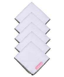 Mumma's Touch Organic Baby Face Towel Pack of 5 - Green Border