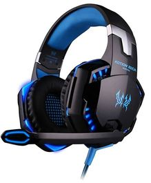 Kotion Each G2000 Over Ear Gaming Headphones With Mic And LED - Black Blue