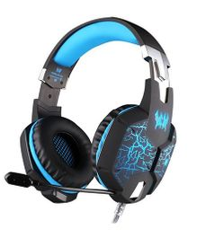 Kotion Each G1100 Gaming Headphones With Mic LED And Vibration - Black Blue