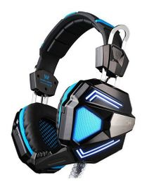 Kotion Each G5200 7.1 Channel USB Gaming Headphones With Vibration - Black Blue