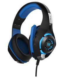 Kotion Each GS400 Multimedia Gaming Headphones With LED - Black Blue
