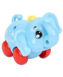 Baby Wind Up Toy Elephant Shape - Blue Red