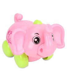 Baby Wind Up Toy Elephant Shape - Pink Green
