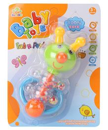 Baby Rattle Animal Shaped - Green