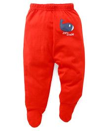 Babyhug Bootie Leggings Whale Print - Red