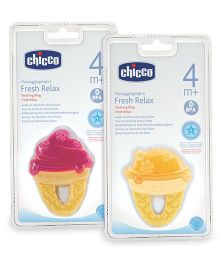 Chicco Fresh Relax Ice Cream Teether 1 Piece (Color And Design May Vary)