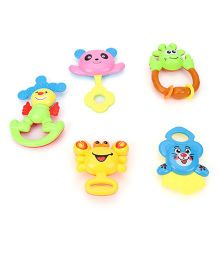 Baby Rattles Pack Of 5 (Color May Vary)
