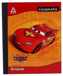 Disney Pixar Cars Classmate Notebook Single Line Ruling - 172 Pages