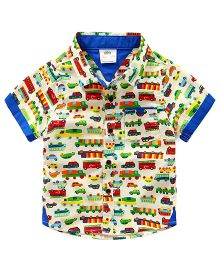 Lil Mantra Vehicles Print Shirt - Multicolour