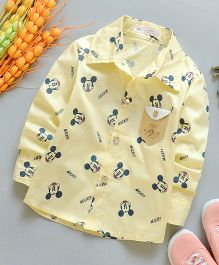 Lil Mantra Mickey Print Shirt - Yellow