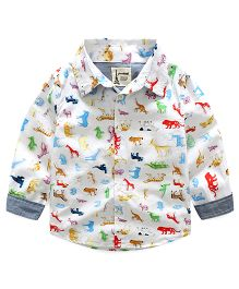 Pre Order - Lil Mantra Animals Print Shirt - Multicolour