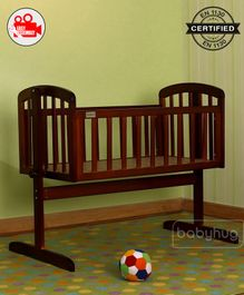 Babyhug Joy Cradle - Walnut Color