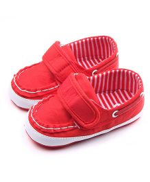 Dazzling Dolls Classy Summer Baby Shoes - Red
